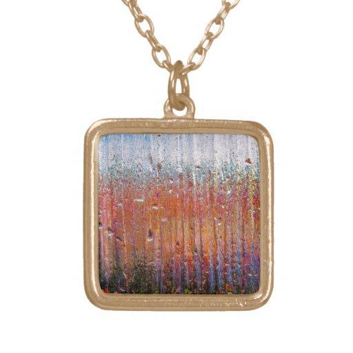 Lluvia sobre el vidrio con colores bonitos collar personalizado