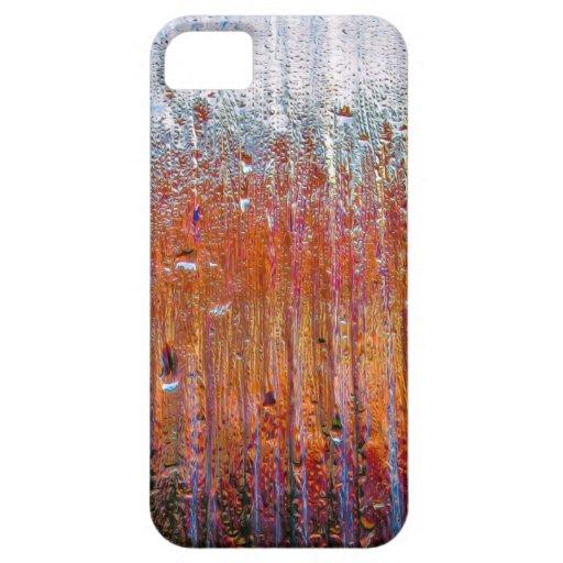 Lluvia sobre el vidrio con colores bonitos iPhone 5 Case-Mate carcasas
