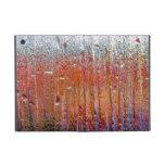 Lluvia sobre el vidrio con colores bonitos iPad mini carcasa