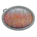 Lluvia sobre el vidrio con colores bonitos hebilla de cinturon oval