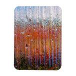 Lluvia sobre el vidrio con colores bonitos imán flexible