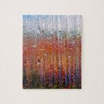 Lluvia sobre el vidrio con colores bonitos puzzle con fotos
