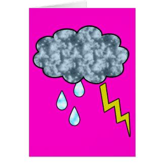 lluvia tarjeta de felicitación