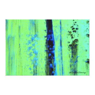 Lluvia urbana impresión en tela