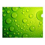 Lluvia verde tarjeta postal