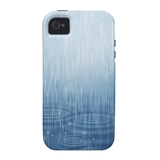 Lluvia Vibe iPhone 4 Carcasas