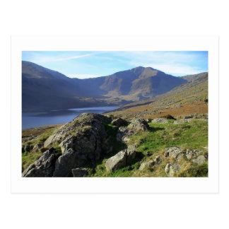 Llyn Ogwen y Y Garn de Afon Lloer Tarjetas Postales
