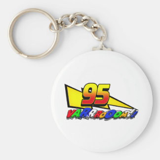 LM95boltVroom Basic Round Button Keychain