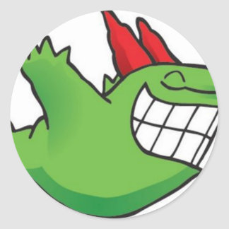 lmao funny gag classic round sticker