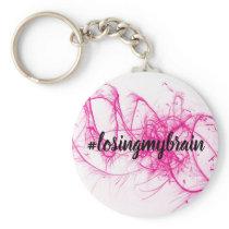 LMB Pink-White Sparkle Keychain