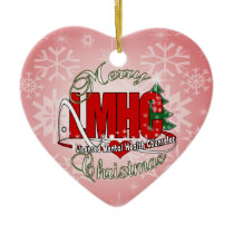 LMHC CHRISTMAS Licensed Mental Health Counselor Ceramic Ornament