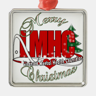 LMHC CHRISTMAS Licensed Mental Health Counselor Metal Ornament