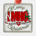 LMHC CHRISTMAS Licensed Mental Health Counselor Square Metal Christmas Ornament
