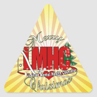 LMHC CHRISTMAS Licensed Mental Health Counselor Sticker