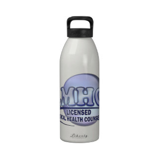 LMHC LICENSED MEDICAL HEALTH COUNSELOR WATER BOTTLES