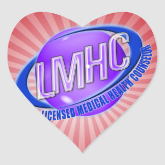 LMHC SWOOSH LICENSED MEDICAL HEALTH COUNSELOR HEART STICKER