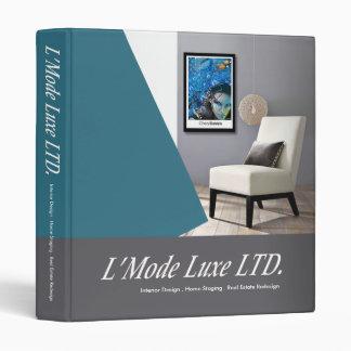 L'Mode Luxe Home Stager Interior Designer 3 Ring Binder