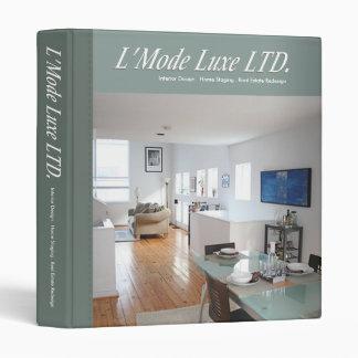 L'Mode Luxe Home Stager Interior Designer Binder