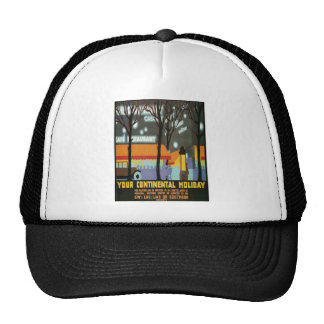 LMS Continental Holiday Poster Mesh Hats
