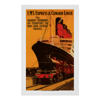 LMS expresan y el poster del trazador de líneas de
