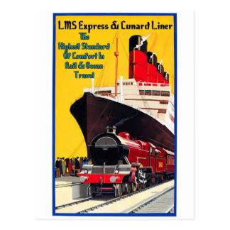 LMS expresan y el trazador de líneas de Cunard Postales