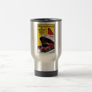 LMS expresan y el trazador de líneas de Cunard Tazas De Café