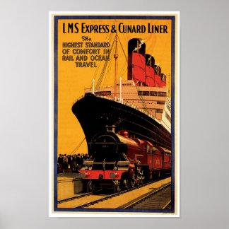 LMS Express & Cunard Liner Posters