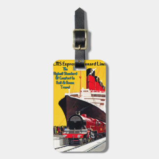 LMS Express & the Cunard Liner Luggage Tag
