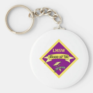 LMSW Social Worker T-shirts and Gifts Basic Round Button Keychain