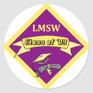 LMSW Social Worker T-shirts and Gifts Classic Round Sticker
