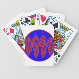 LNeel-Four-Feathers-Red-Blue Bicycle Playing Cards
