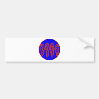 LNeel-Four-Feathers-Red-Blue Bumper Sticker