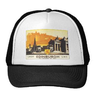 LNER Edinburgh LMS It's Quicker by Rail Trucker Hats