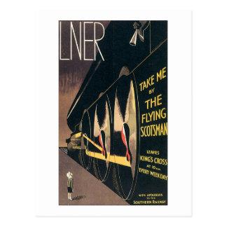 LNER me toman del Scotsman del vuelo Tarjetas Postales