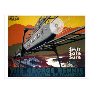 LNER Railplane Poster Postcard