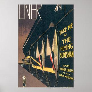 LNER The Flying Scotsman Vintage Travel Poster