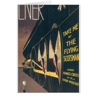 LNER The Flying Scotsman Vintage Travel Poster Card
