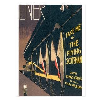 LNER The Flying Scotsman Vintage Travel Poster Postcard