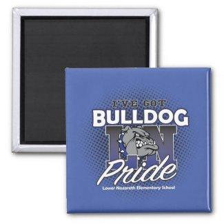 LNES Bulldog Pride Refrigerator Magnet
