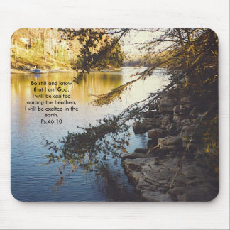 lnss, Be still and know that I am God: I will b... Mouse Pad