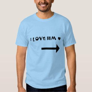 Lo amo - camisa de los pares