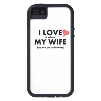 Lo amo cuando mi esposa me deja ir a nadar iPhone 5 fundas