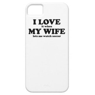 Lo amo cuando mi esposa me deja mirar fútbol iPhone 5 cárcasa