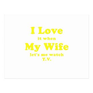 Lo amo cuando mi esposa me deja ver la TV Postal