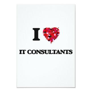 """Lo amo los consultores invitación 3.5"""" x 5"""""""