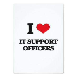 """Lo amo los oficiales de la ayuda invitación 5"""" x 7"""""""