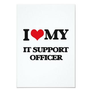 """Lo amo mi oficial de la ayuda invitación 3.5"""" x 5"""""""