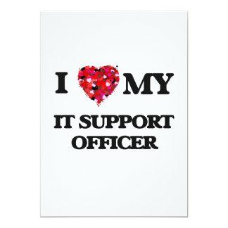 """Lo amo mi oficial de la ayuda invitación 5"""" x 7"""""""