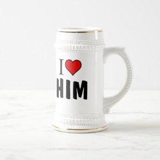 Lo amo tazas de café