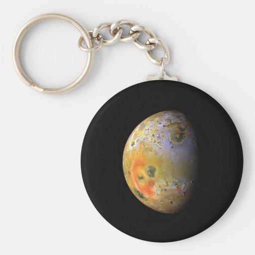 Lo Basic Round Button Keychain
